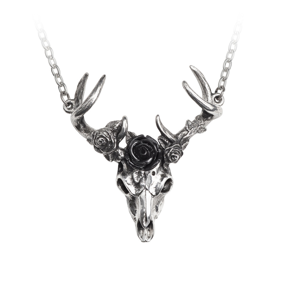 White Hart, Black Rose Necklace by Alchemy Gothic