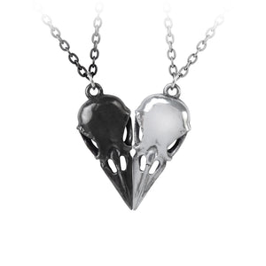 Coeur Crane Pendant Necklace Pair by Alchemy Gothic