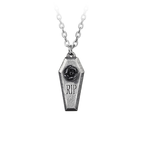RIP Rose Necklace by Alchemy Gothic