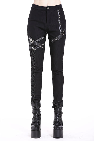 Punk Cross Straps Pants by Dark In Love