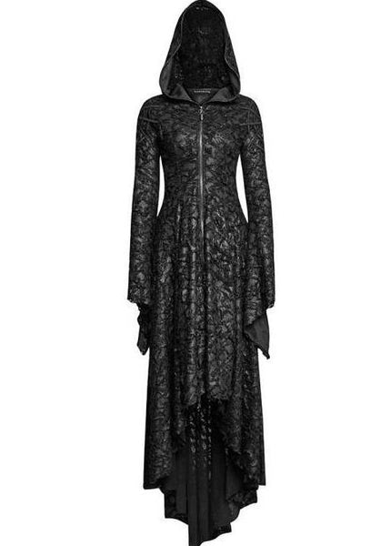 Punk Rave Gothic Web Hooded Dress