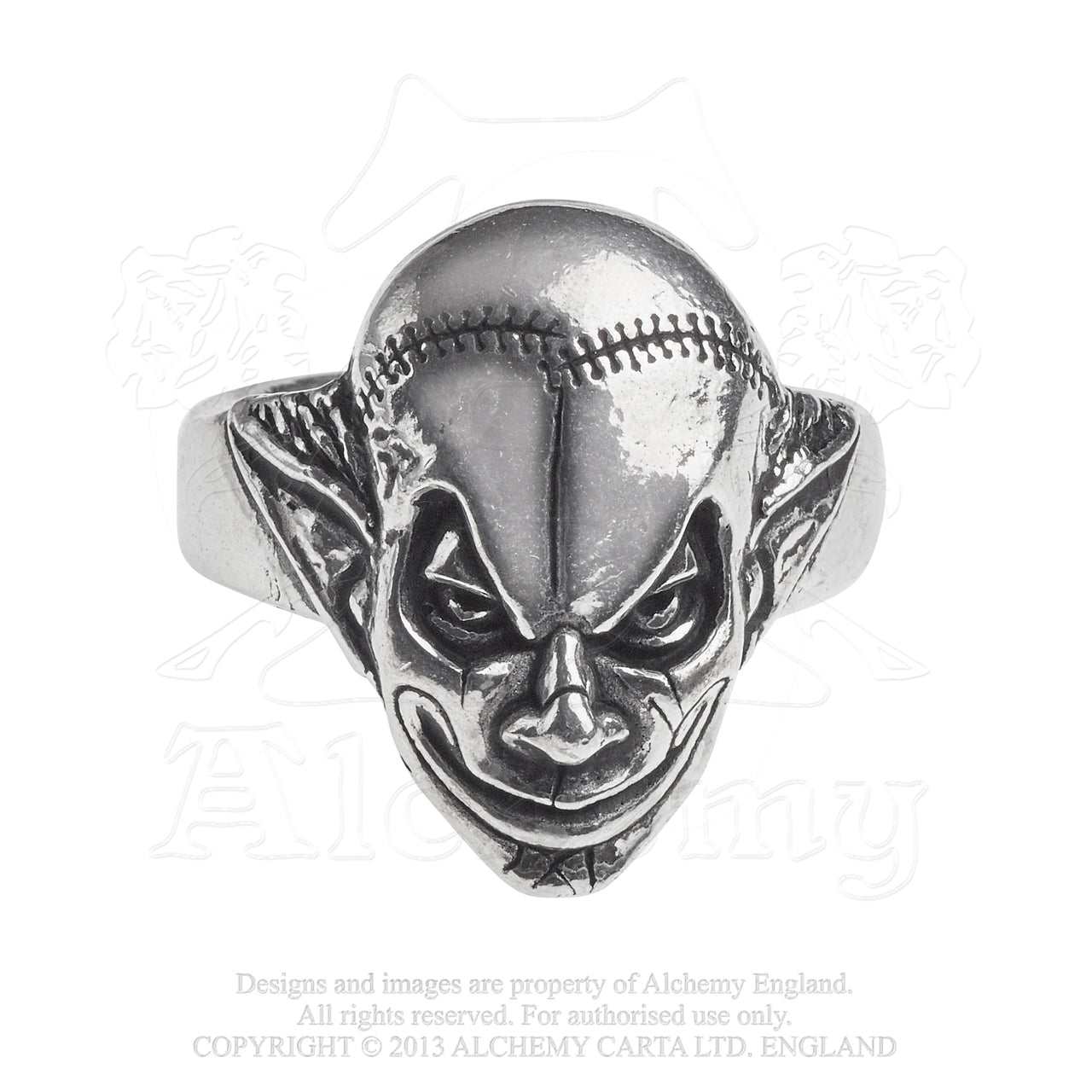 M'era Luna Evil Clown Ring by Alchemy Gothic