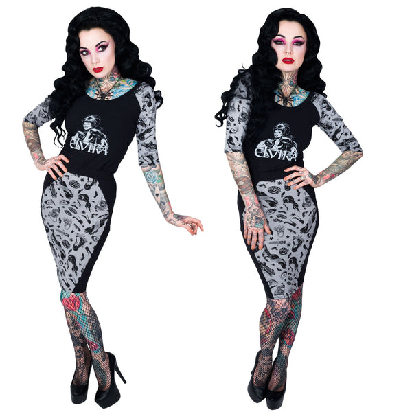 Elvira Comic Icons Coffin Pencil Skirt by Kreepsville 666