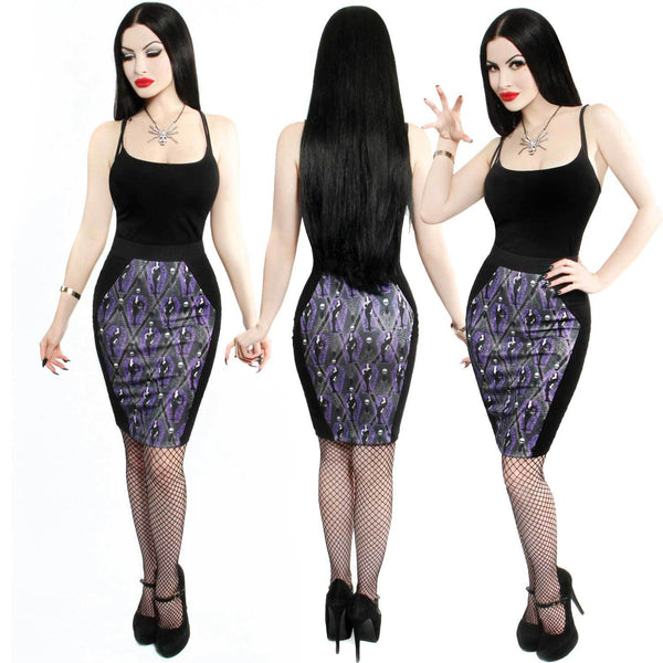 Vampira Arghoul Coffin Pencil Skirt by Kreepsville 666