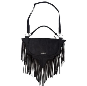 Bat Wing Fringe Shoulder Bag by Kreepsville 666