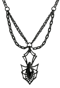 Gothic Spider Necklace by Restyle
