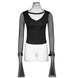 Punk Rave Mesh Sleeves Top