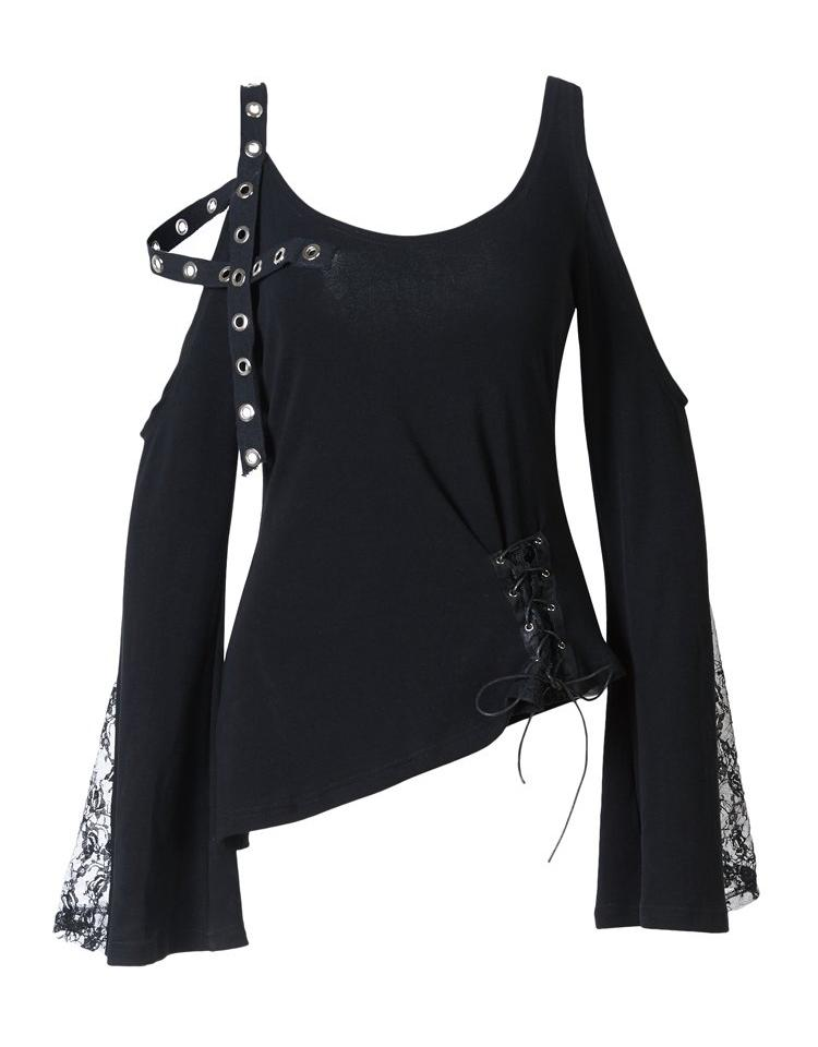 Reckless Cold Shoulder Shirt by Dark In Love