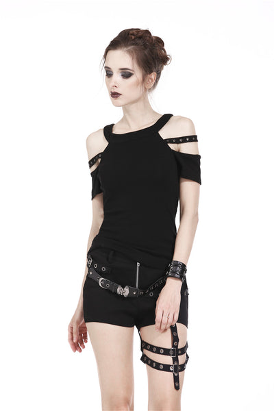 Punk Eyelets Shirt by Dark In Love