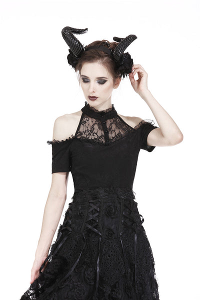 Elegant Goth Lace Top by Dark In Love