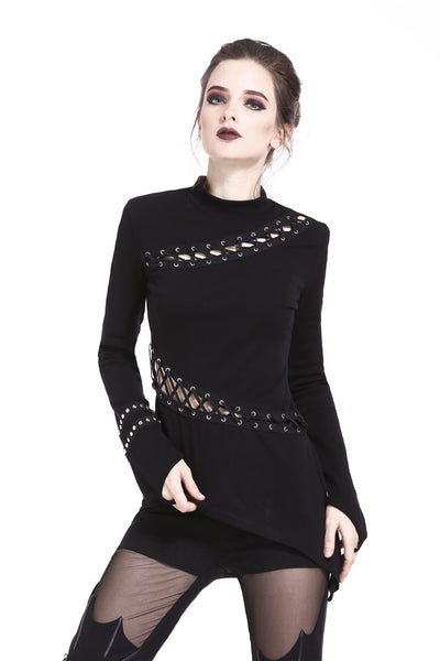 Punk Lace Up Top by Dark In Love