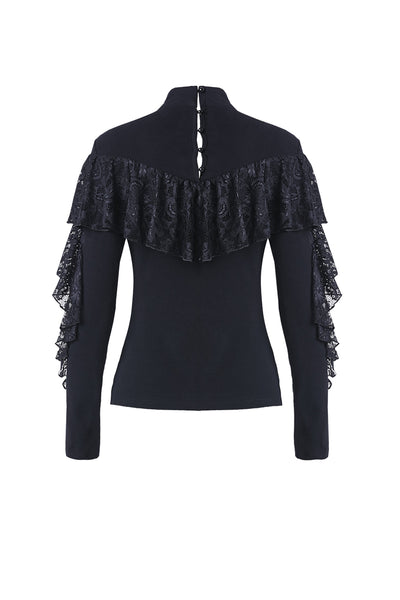 Duchess Lace Ruffle Top by Dark In Love
