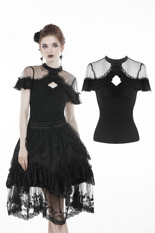 Creepy Frills Top by Dark In Love