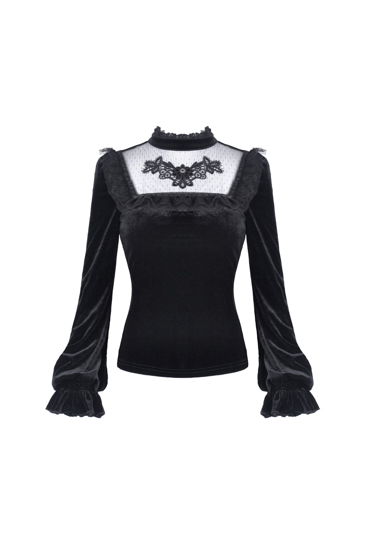 Gothic Lolita Rose Velvet Top by Dark In Love