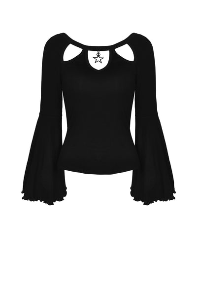 Star Charm Flared Sleeves Top by Dark In Love