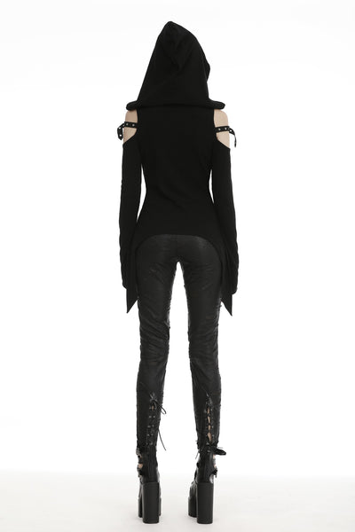Grim Hooded Top by Dark In Love