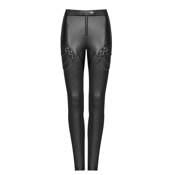 Cryptic Chain Leggings by Punk Rave