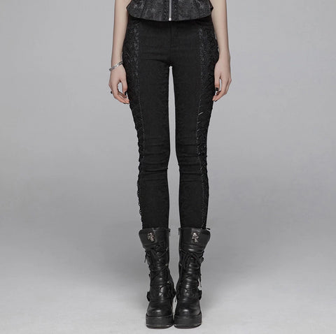 Elegant Jacquard Pants by Punk Rave