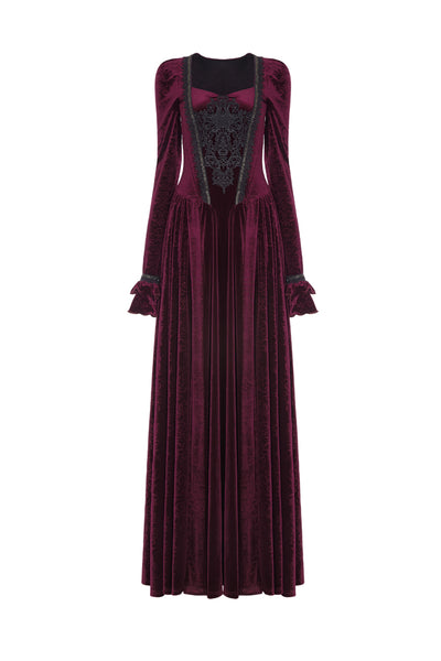 Punk Rave Victorian Velvet Dress