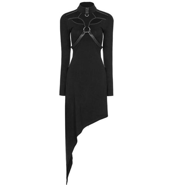Punk Rave Asymmetrical Harness Dress