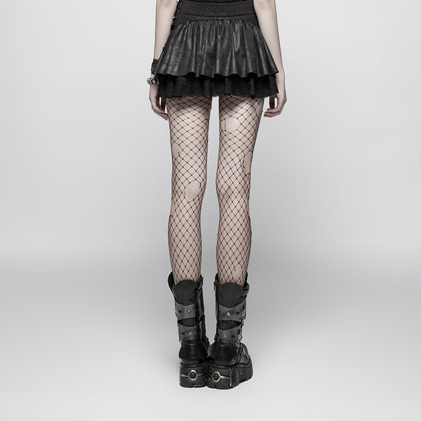 Cyborg Ruffle Skirt by Punk Rave
