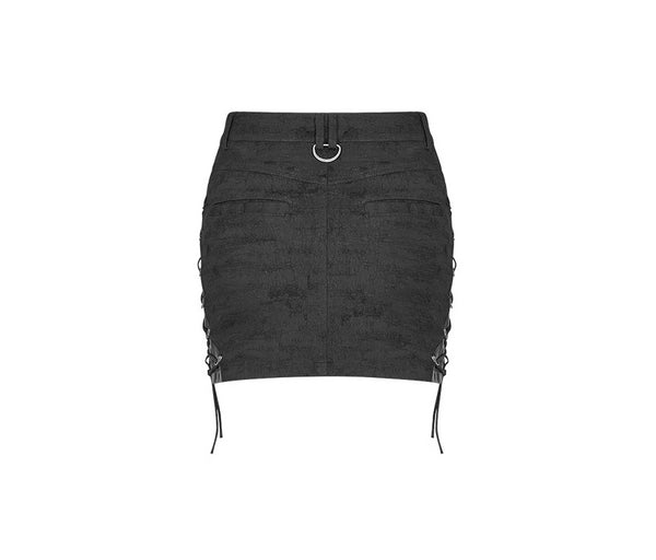 Malice Lace Up Skirt by Punk Rave