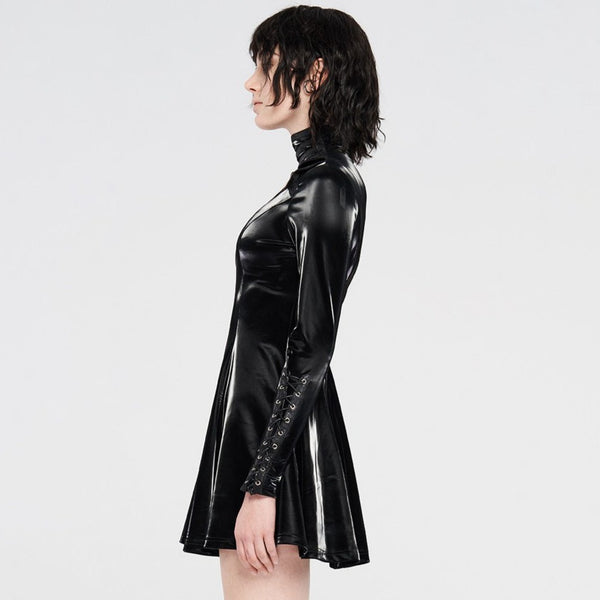 Simulation PU Leather Dress by Punk Rave