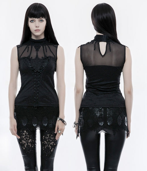 Black Reign Sleeveless Top by Punk Rave