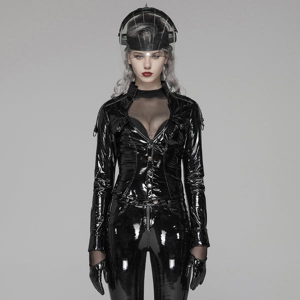 Ash PU Leather Jacket by Punk Rave