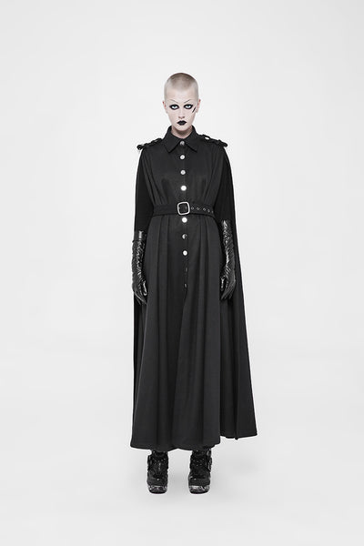 Military Style Cloak Coat by Punk Rave