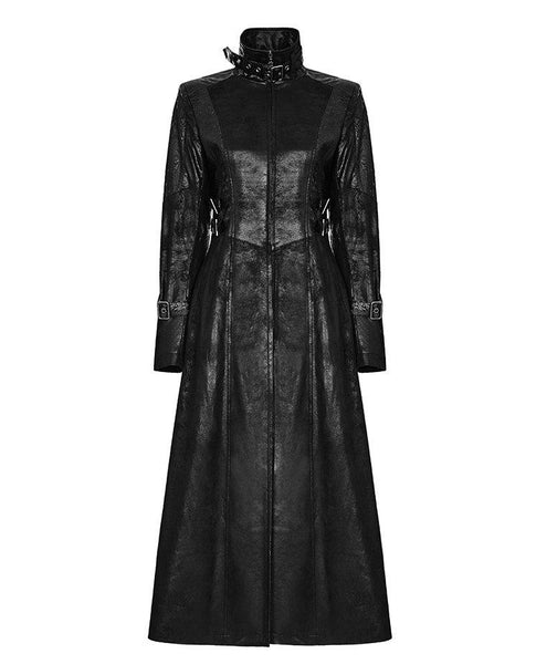 Fall Into The Darkness PU Leather Coat by Punk Rave