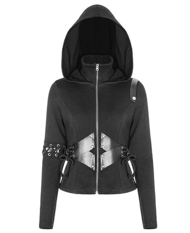 Punk Rave Dark Side Hooded Sweater Coat