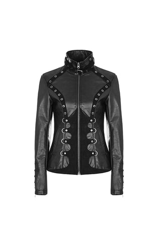 Punk Rave Never Belong Faux Leather Jacket