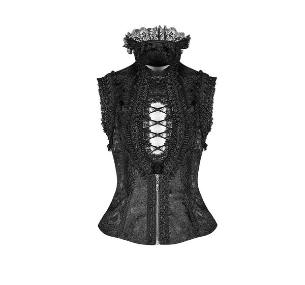 Gothic Aristocrat Vest Top by Punk Rave