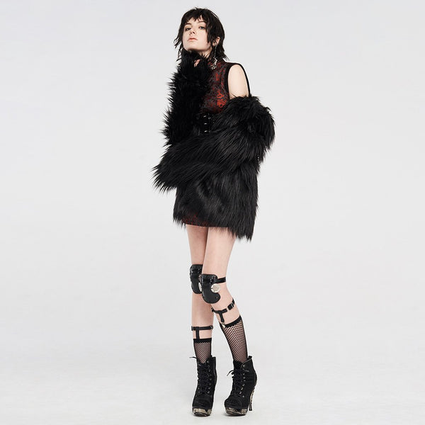 Zombie Queen Faux Fur Coat by Punk Rave