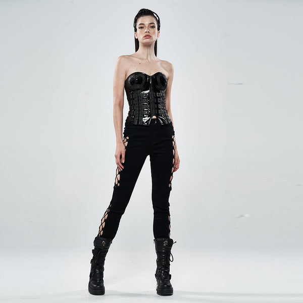 Lovesick PU Leather Corset by Punk Rave