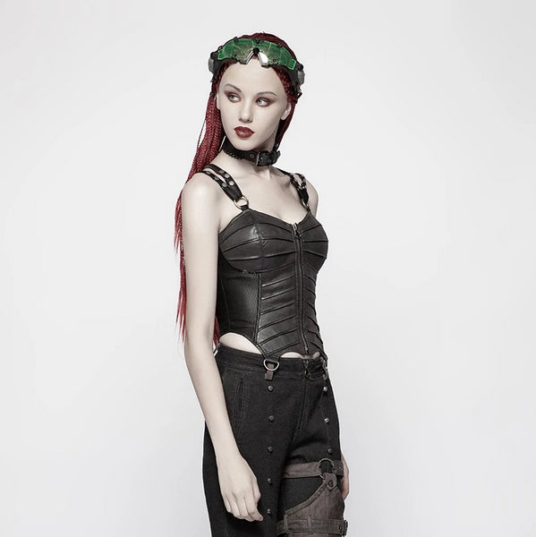 Black Beetle Corset Top by Punk Rave