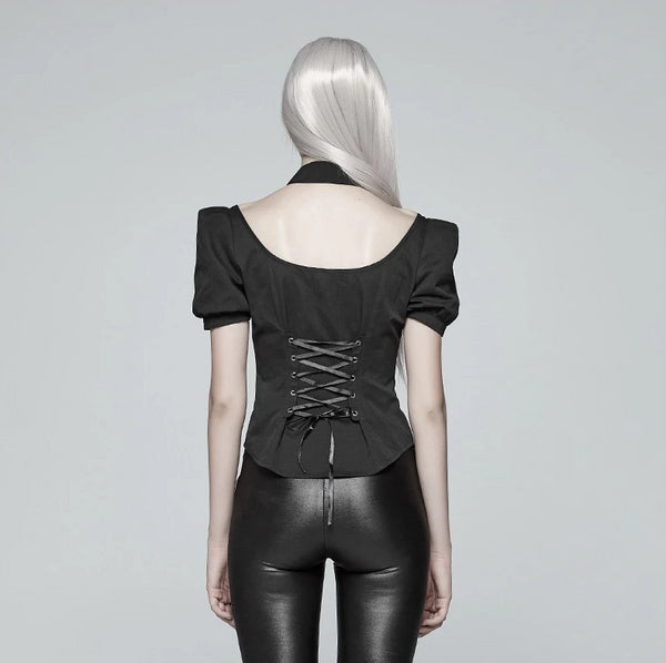 Luxurious Bat Collar Top by Punk Rave