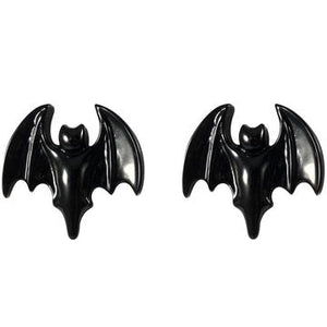 Bat Black Stud Earrings by Kreepsville 666