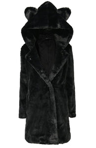 Cat Faux Fur Coat by Restyle