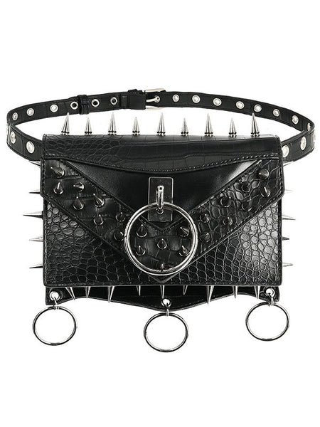 Gothic Spikes Belt Bag