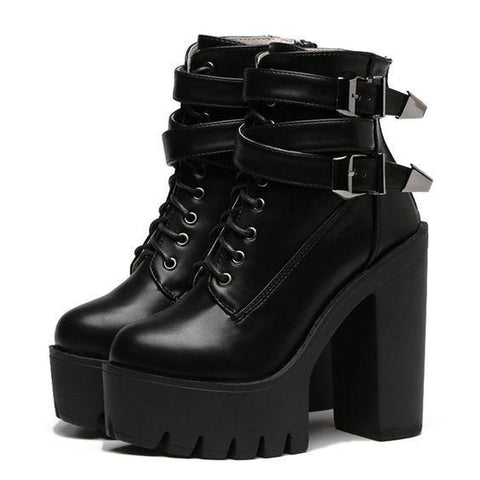 Destructive Lace Up Boots