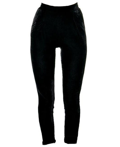Black Velvet Pants by Restyle