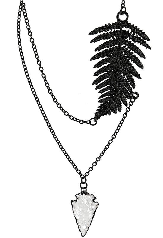 Fern Black Necklace by Restyle