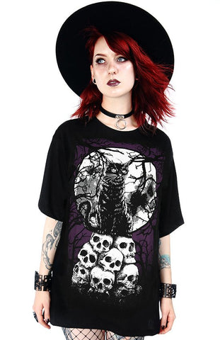 Morbid Cat Oversized Shirt by Restyle