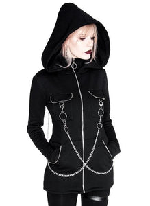 Gothic Chained Hoodie by Restyle
