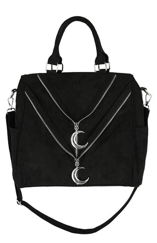 Double Zipped Moon Bag by Restyle