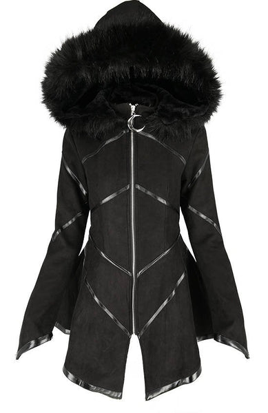 Gothic Geometric Hooded Coat by Restyle