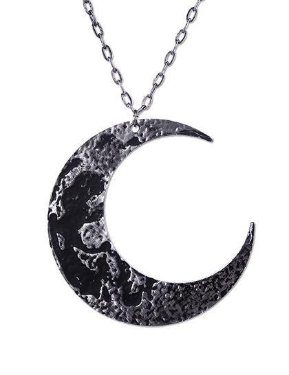 Moon Textured Necklace by Restyle