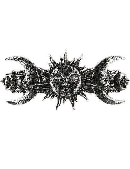 Sun & Moon Silver Hairclip by Restyle